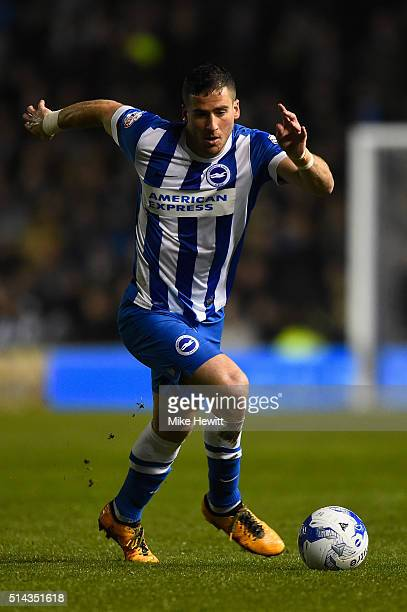 Tomer Hemed of Brighton Hove Albion in action during the Sky Bet Championship match between Brighton and Hove Albion and Sheffield Wednesday at the...