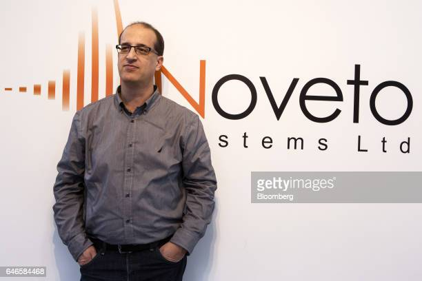 Tomer Shani cofounder and chief executive officer of Noveto Systems Ltd poses for a photograph at the Noveto Systems Ltd office in Petach Tikva...