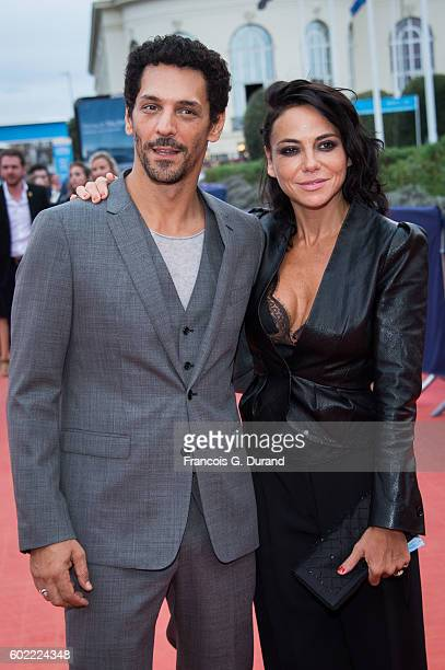 Tomer Sisley and Sandra Zeitoun arrive to the 'War Dogs' premiere and Award Ceremony during the 42nd Deauville American Film Festival on September 10...