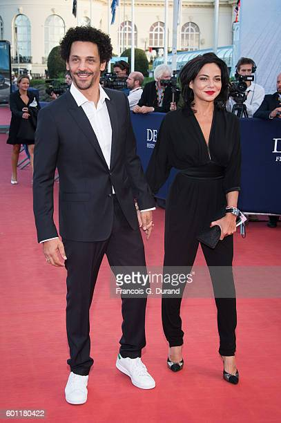 Tomer Sisley and Sandra Zeitoun attend the 'Imperium' Premiere during the 42nd Deauville American Film Festival on September 9 2016 in Deauville...