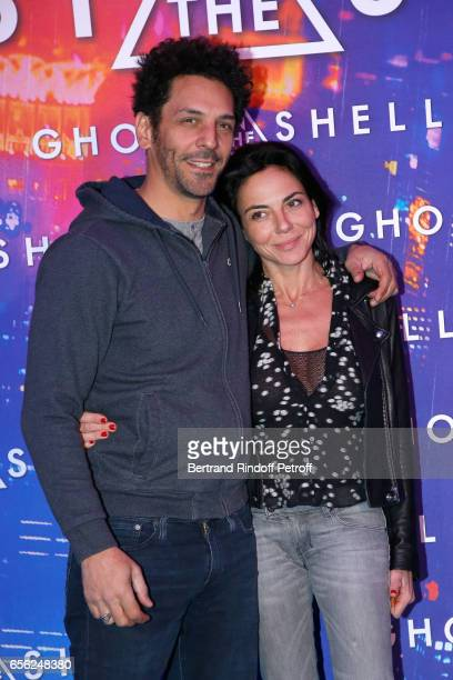 Tomer Sisley and Sandra Zeitoun de Matteis attend the Paris Premiere of the Paramount Pictures release 'Ghost in the Shell' Held at Le Grand Rex on...