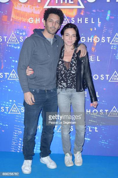 Tomer Sisley and Sandra Zeitoun de Matteis attend the Paris Premiere of the Paramount Pictures release 'Ghost In The Shell' at Le Grand Rex on March...