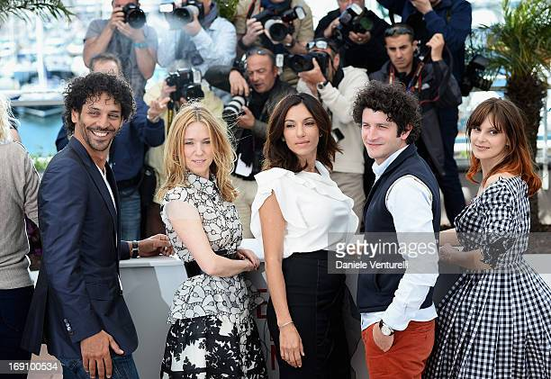 Tomer Sisley Lea Drucker Aure Atika Clement Sibony and Elodie Navarre attend the photocall for 'Jeunes Talents Adami' during the 66th Annual Cannes...