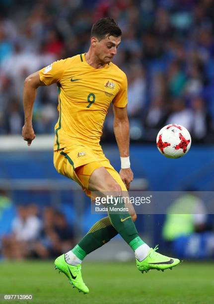 Tomi Juric of Australia in action during the FIFA Confederations Cup Russia 2017 Group B match between Australia and Germany at Fisht Olympic Stadium...