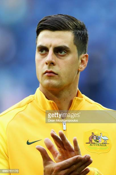 Tomi Juric of Australia lines up prior to the FIFA Confederations Cup Russia 2017 Group B match between Cameroon and Australia at Saint Petersburg...