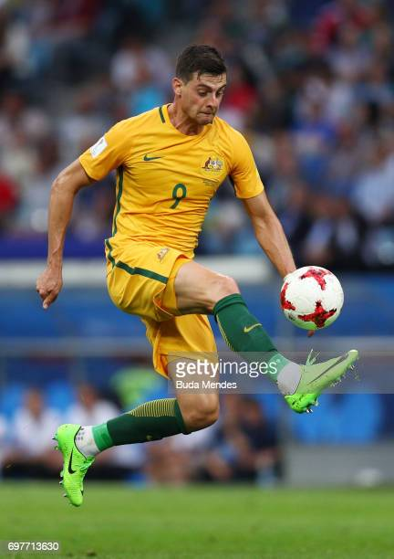 Tomi Juric of Austrlia in action during the FIFA Confederations Cup Russia 2017 Group B match between Australia and Germany at Fisht Olympic Stadium...