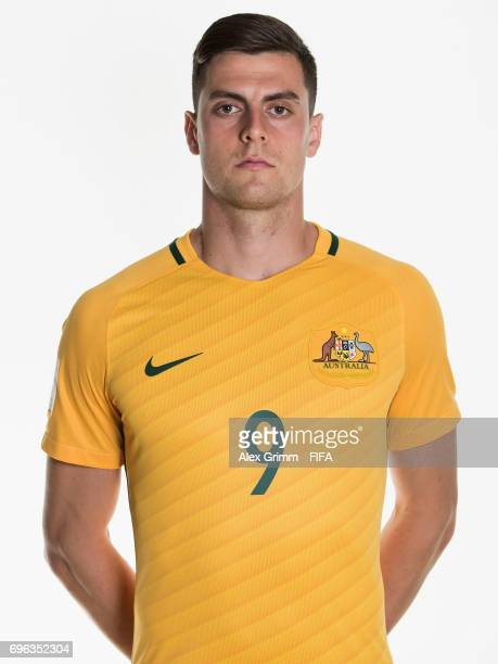 Tomi Juric poses for a picture during the Australia team portrait session on June 15 2017 in Sochi Russia