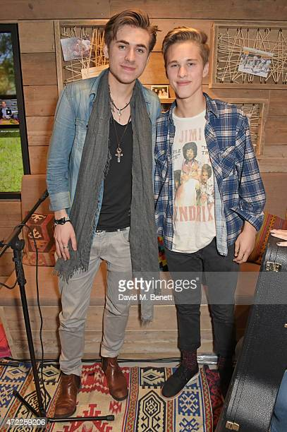 Tomi Saario and Ryan Beatty attend the launch of TOMS London Community Outpost their first UK Flagship store off Carnaby Street on May 5 2015 in...