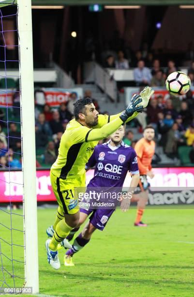 Tomislav Bilic of the Roar during the round 26 ALeague match between the Perth Glory and Brisbane Roar at nib Stadium on April 8 2017 in Perth...