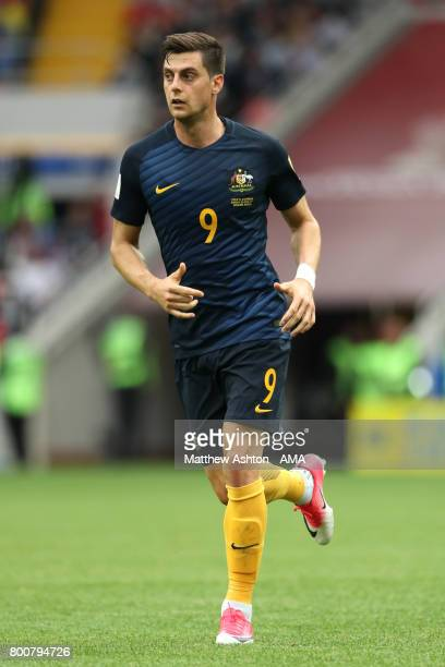 Tomislav Juric of Australia in action during the FIFA Confederations Cup Russia 2017 Group B match between Chile and Australia at Spartak Stadium on...