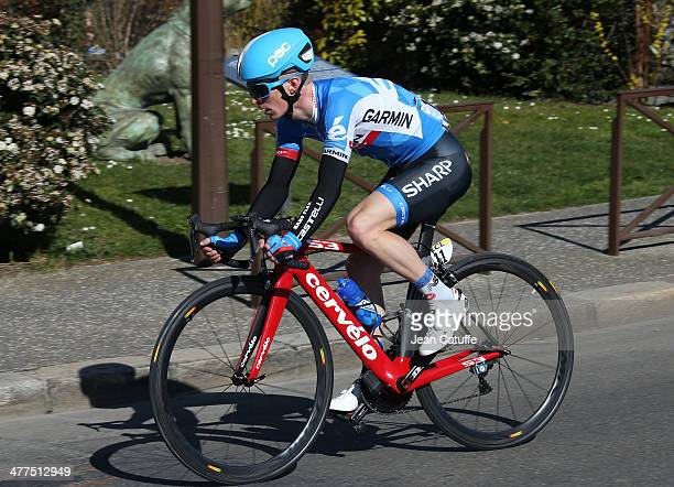 TomJelte Slagter of the Netherlands and Team GarminSharp in action during Stage 1 of the ParisNice 2014 race on March 9 2014 in ManteslaJolie France