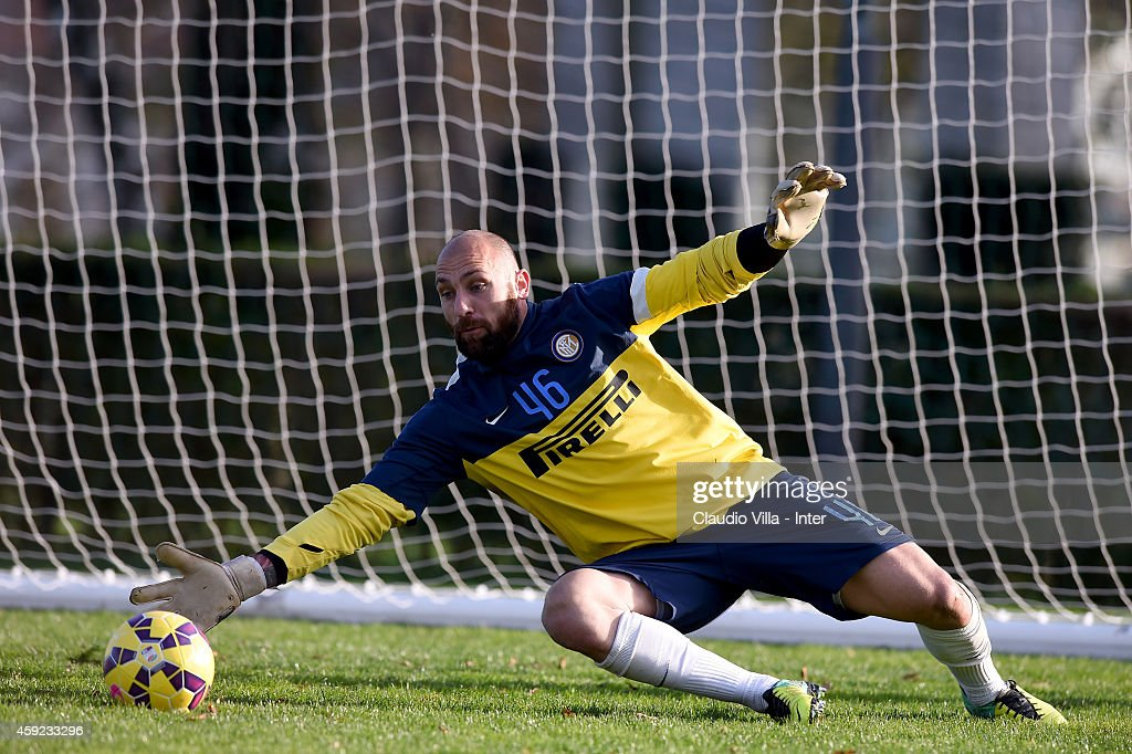 Tommaso Berni during FC Internazionale Training Session at Appiano Gentile on November 19, 2014 in Como, Italy.