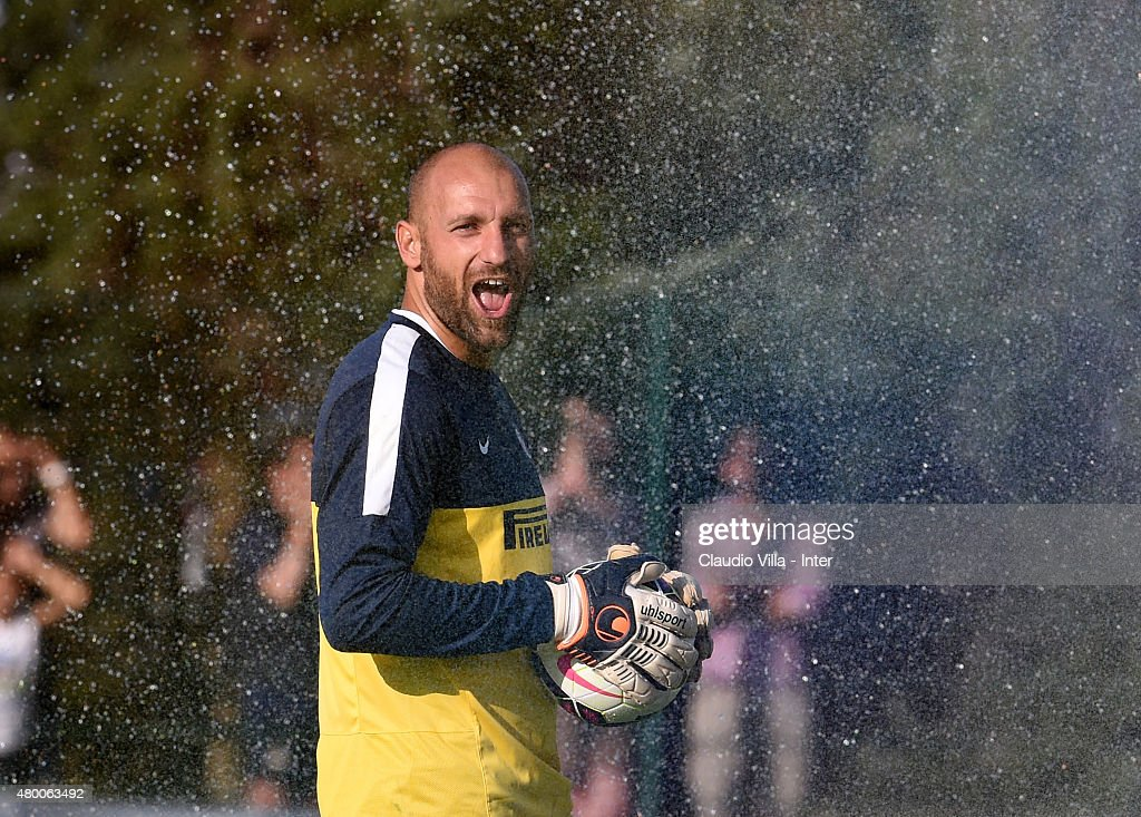 Tommaso Berni looks on during FC Internazionale training session at Riscone di Brunico on July 9, 2015 in Bruneck, Italy.