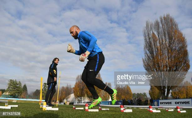 Tommaso Berni of FC Internazionale in action during the FC Internazionale training session at Suning Training Center at Appiano Gentile on November...