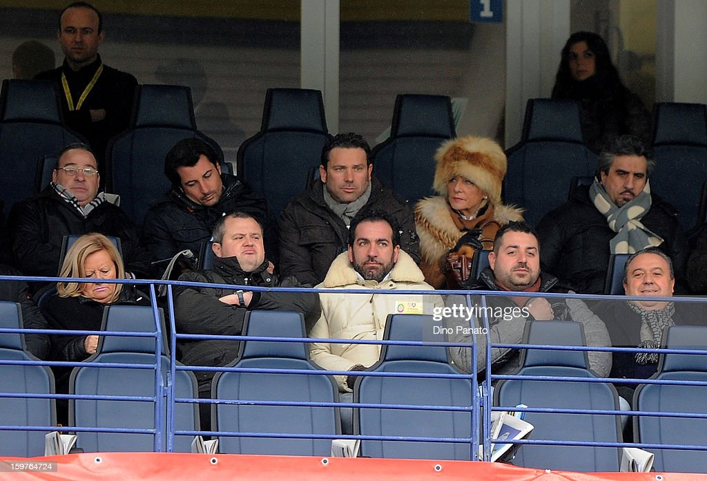 Tommaso Ghirardi (2rd L), President of Parma FC during the Serie A match between AC Chievo Verona and Parma FC at Stadio Marc'Antonio Bentegodi on January 20, 2013 in Verona, Italy.
