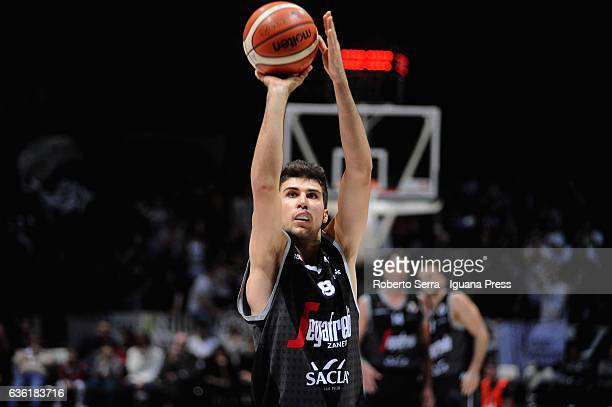 Tommaso Oxilia of Segafredo in action during the match of LNP LegaBasket Serie A2 between Virtus Segafredo Bologna and Scaligera Tezenis Verona at...