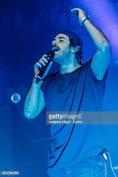 Tommaso Paradiso of Italian Rock band Thegiornalisti performs on stage on November 17 2016 in Milan Italy
