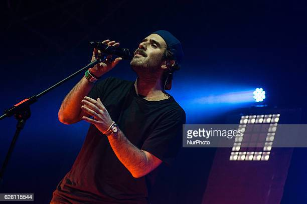 Tommaso Paradiso of the italian band quotThegiornalistiquot performs live at the AtlanticoLive in Rome Italy on 26 November 2016