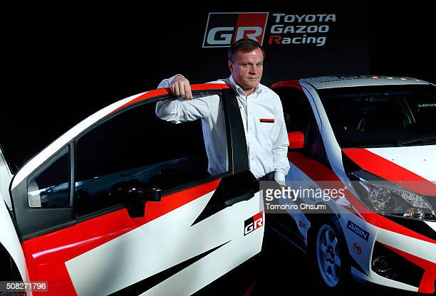 Tommi Makinen head of Toyota Motor Corp's World Rally Championship project poses for a photograph during a press conference on February 4 2016 in...