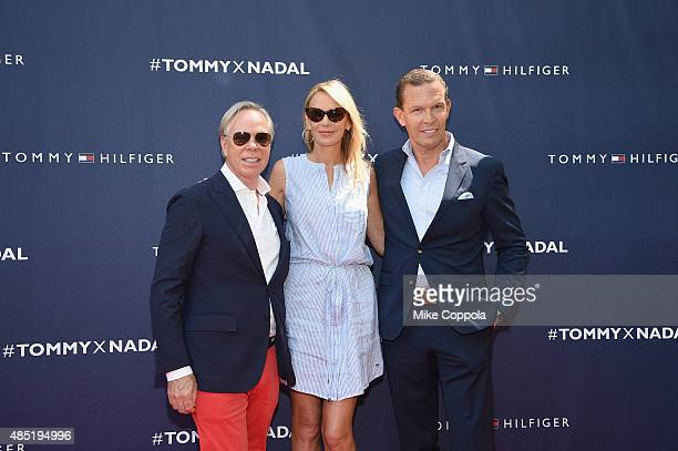 Tommy and Dee Hilfiger attend the Tommy Hilfiger and Rafael Nadal Global Brand Ambassadorship Launch at Bryant Park on August 25 2015 in New York City