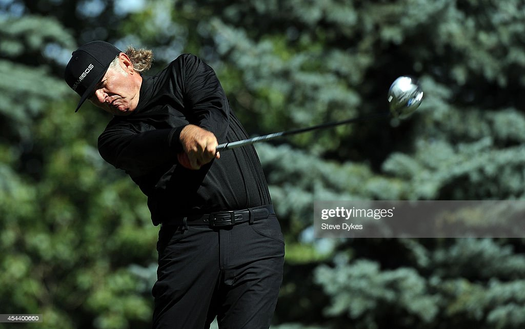 <a gi-track='captionPersonalityLinkClicked' href=/galleries/search?phrase=Tommy+Armour+III&family=editorial&specificpeople=562681 ng-click='$event.stopPropagation()'>Tommy Armour III</a> hits his drive on the fourth hole during the second round of the Shaw Charity Classic at the Canyon Meadows Golf and Country Club on August 30, 2014 in Calgary, Canada.