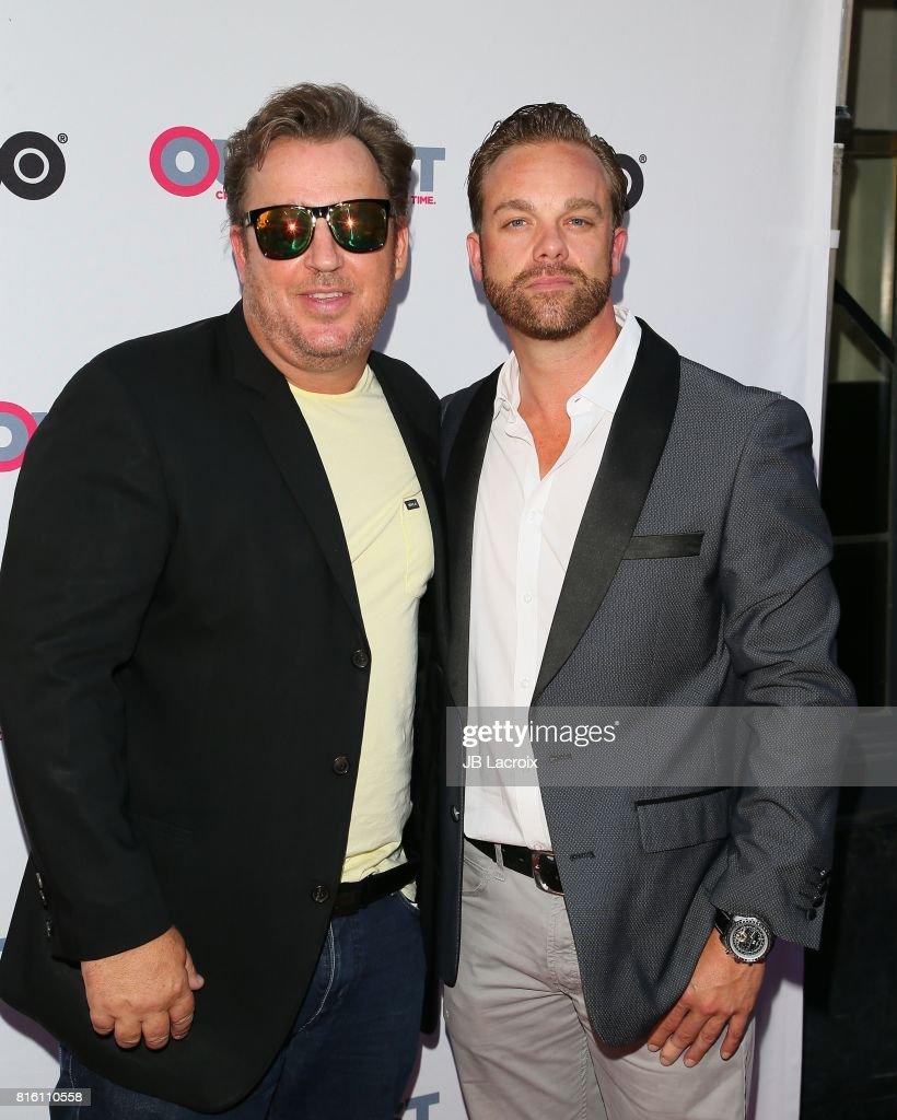 Tommy Bruno and Tyler Martin attend the 2017 Outfest Los Angeles LGBT Film Festival - Closing Night Gala Screening Of ''Freak Show' on July 16, 2017 in Los Angeles, California.