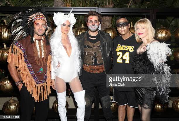 Tommy Chiabra Alessandra Ambriosio Darren Dzienciol Mo Al Turki and Courtney Love attend Darren Dzienciol and Alessandra Ambrosio's Halloween Bash on...