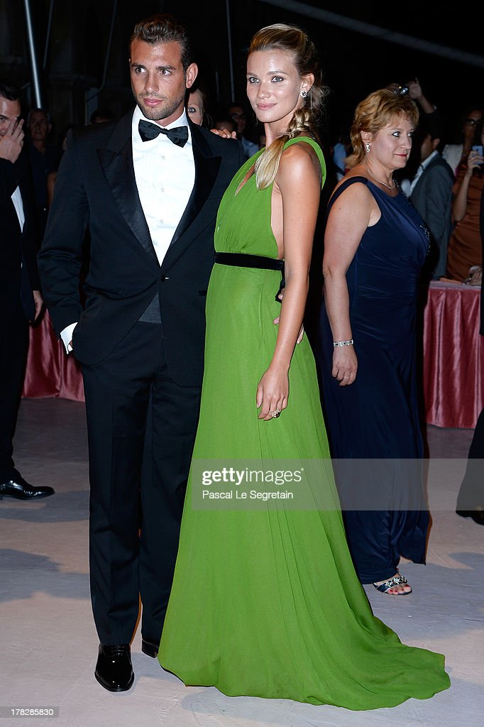 Tommy Chiabra and Fiammetta Cicogna attend the Opening Ceremony And 'Gravity' Premiere Dinner during the 70th Venice International Film Festival at the Palazzo del Cinema on August 28, 2013 in Venice, Italy.