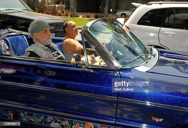 Tommy Chong and Cheech Marin arrive to announce their upcoming 'Cheech Chong Light Up America' Comedy Tour at the Troubadour on July 30 2008 in West...