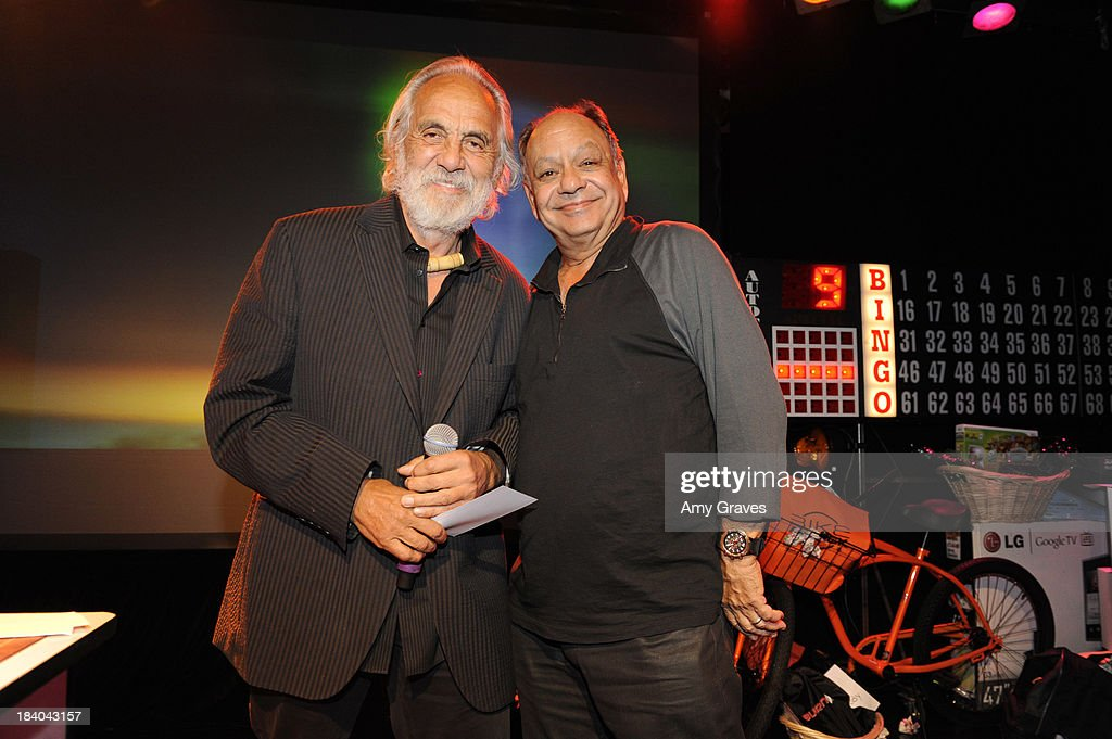 Tommy Chong and Cheech Marin attend Bingo At The Roxy to Benefit The Painted Turtle at The Roxy Theatre on October 10, 2013 in West Hollywood, California.
