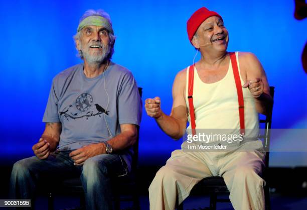 Tommy Chong and Cheech Marin of Cheech Chong perform as part of Wild 949's 10th Annual Comedy Jam at Shoreline Amphitheatre on August 22 2009 in...