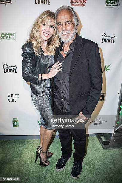 Tommy Chong and Shelby Chong arrive at Mack Sennett Studios on May 24 2016 in Los Angeles California
