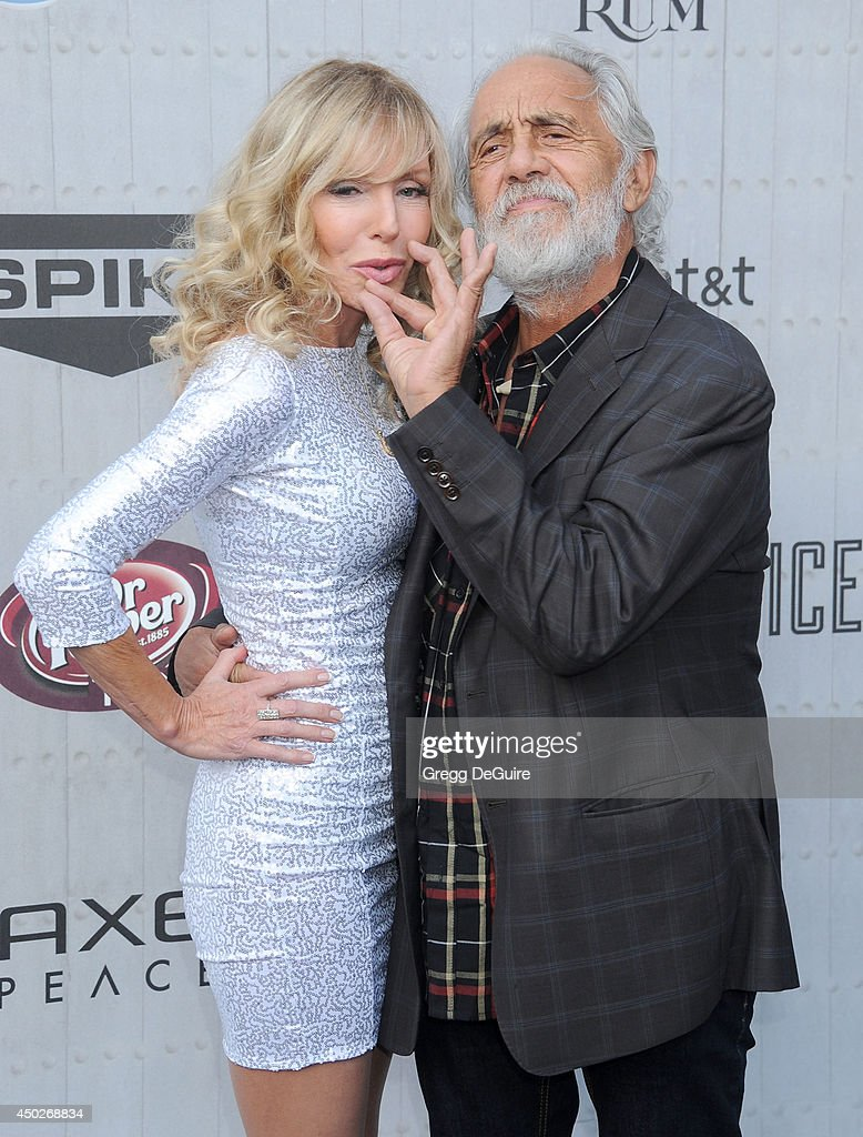 Tommy Chong and Shelby Chong arrive at Spike TV's 'Guys Choice' Awards at Sony Studios on June 7, 2014 in Los Angeles, California.