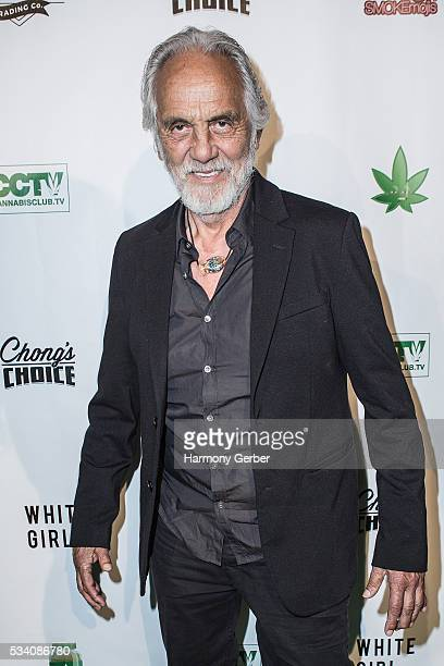 Tommy Chong arrives at Mack Sennett Studios on May 24 2016 in Los Angeles California