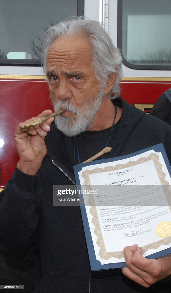 Tommy Chong Receives Key To The City Of Hazel Park,MI