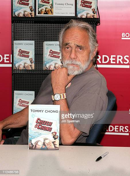 Tommy Chong signs 'Cheech Chong The Unauthorized Autobiography' at Borders Wall Street on August 12 2008 in New York City