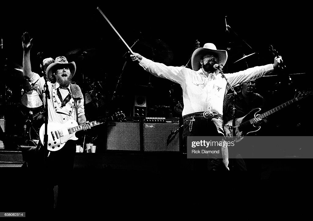 Tommy Crain and Charlie Daniels of The Charlie Daniels Band perform during Charlie Daniels Volunteer Jam VII at the Municipal Auditorium in Nashville Tennessee January 12, 1980