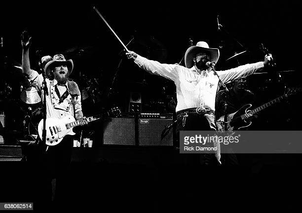 Tommy Crain and Charlie Daniels of The Charlie Daniels Band perform during Charlie Daniels Volunteer Jam VII at the Municipal Auditorium in Nashville...