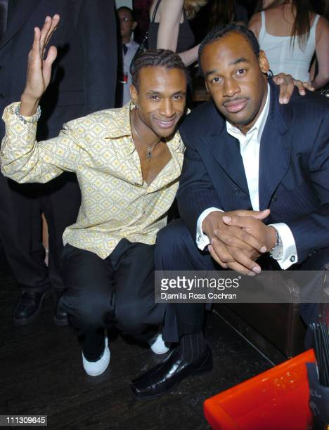 Tommy Davidson and Donovan McNabb during Lionel Richie's 56th Birthday Party at PM in New York City New York United States