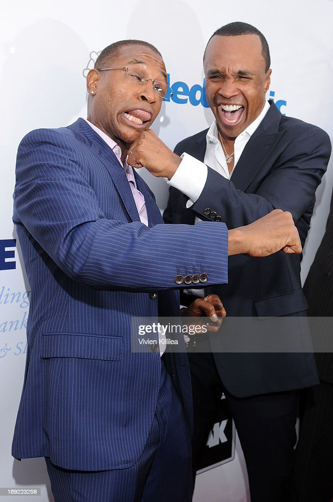 Tommy Davidson and Sugar Ray Leonard attend B. Riley & Co. & The Sugar Ray Leonard Foundation Present The 4th Annual 'Big Fighters, Big Cause' Charity Fight Night To Benefit Juvenile Diabetes at Santa Monica Pier on May 21, 2013 in Santa Monica, California.