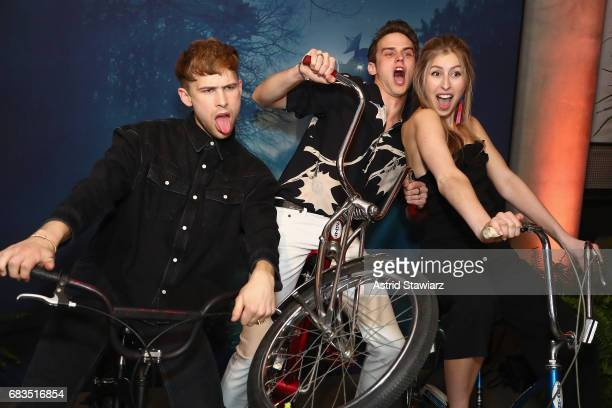 Tommy Dorfman and Brandon Flynn of 13 Reasons Why attend the Entertainment Weekly and PEOPLE Upfronts party presented by Netflix and Terra Chips at...