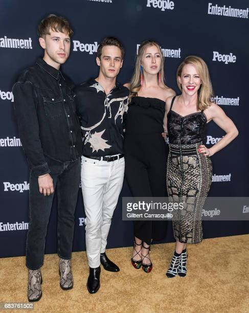 Tommy Dorfman and Brandon Flynn of 13 Reasons Why attend Entertainment Weekly People New York Upfronts at 849 6th Ave on May 15 2017 in New York City