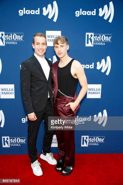 Tommy Dorfman and guest at the 2017 GLAAD Gala at City View at Metreon on September 9 2017 in San Francisco California
