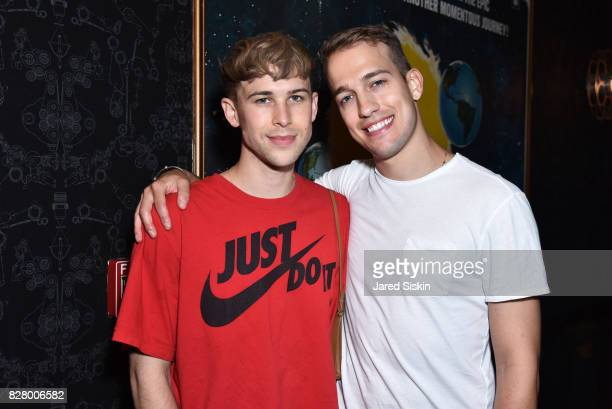 Tommy Dorfman and Peter Zurkuhlen attend Neon hosts the after party for the New York Premiere of 'Ingrid Goes West' at Alamo Drafthouse Cinema on...