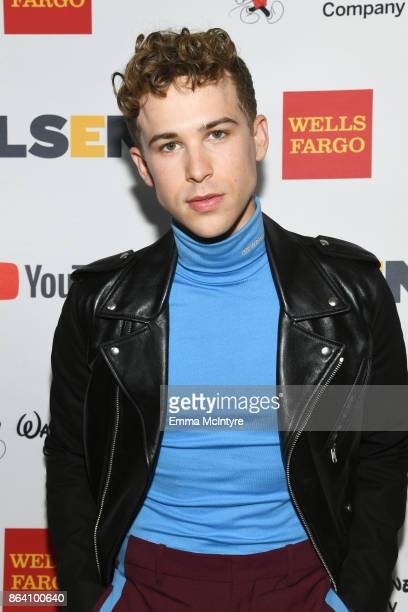 Tommy Dorfman at the 2017 GLSEN Respect Awards at the Beverly Wilshire Hotel on October 20 2017 in Los Angeles California
