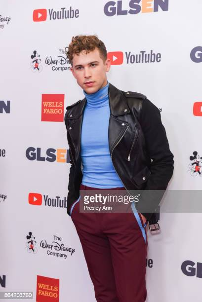 Tommy Dorfman attends 2017 GLSEN Respect Awards Arrivals at the Beverly Wilshire Four Seasons Hotel on October 20 2017 in Beverly Hills California