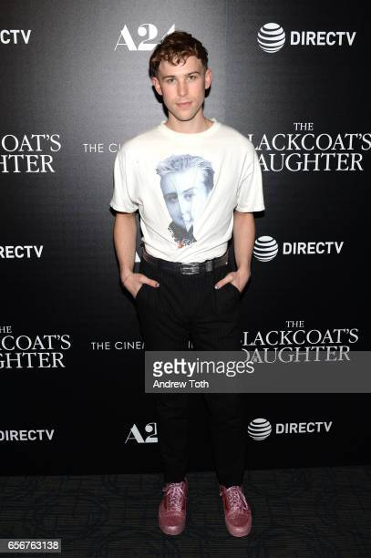 Tommy Dorfman attends a screening of 'The Blackcoat's Daughter' hosted by A24 and DirecTV with The Cinema Society at Landmark Sunshine Cinema on...