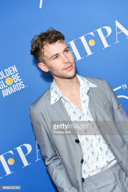 Tommy Dorfman attends Hollywood Foreign Press Association Hosts Annual Holiday Party And Golden Globes 75th Anniversary Special Screening Arrivals at...