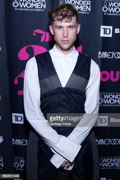 Tommy Dorfman attends Out Magazine 25th Anniversary Celebration at PHD Rooftop Lounge at Dream Downtown on October 11 2017 in New York City