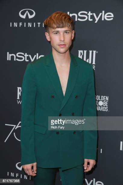 Tommy Dorfman attends the Hollywood Foreign Press Association and InStyle celebrate the 75th Anniversary of The Golden Globe Awards at Catch LA on...